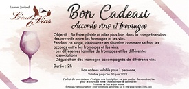 Bon cadeau - Accords vins & fromages