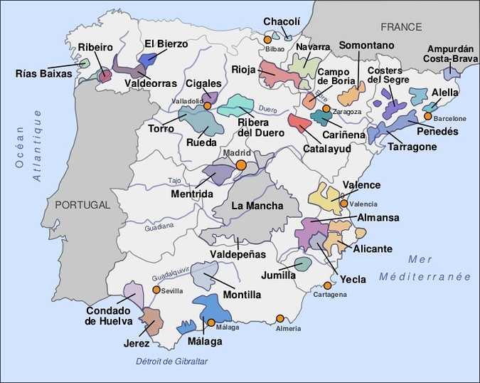 le vignoble espagnol