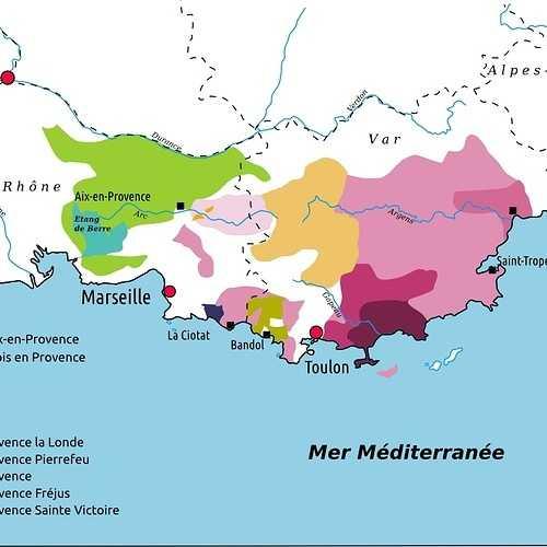 Le vignoble de Provence 0