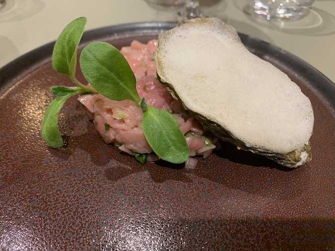 tartare de veau aux huitres
