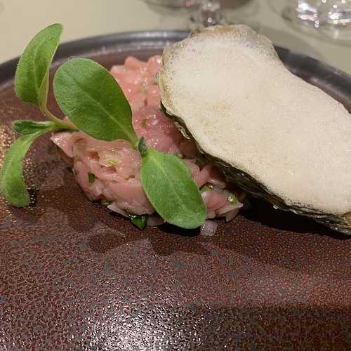 Tartare de veau aux huîtres 0