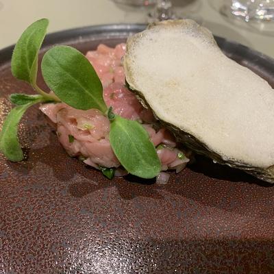 Tartare de veau aux huîtres