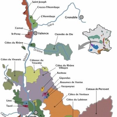 Le vignoble des Côtes du Rhône